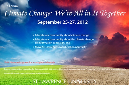 Climate Change Forum Poster